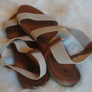 Shoes - Ladies Tan Strappy Sandals